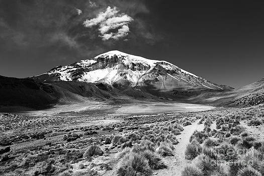 James Brunker - Sajama Volcano Monochrome