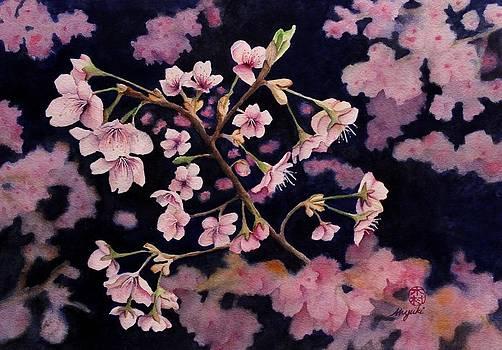 Sakura in Blue by Kelly Miyuki Kimura