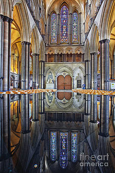 Salisbury cathedral reflections by Julian Elliott