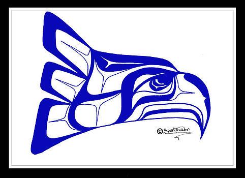 Salish Seahawks logo by Speakthunder Berry
