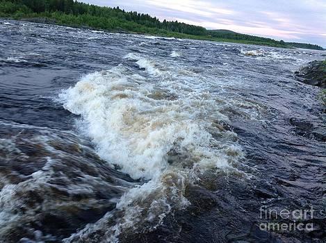 Salmon Rivers - Tornio . Post card from Holdays. 2014. by  Andrzej Goszcz
