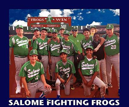 Salome Fighting Frogs by Dede Shamel Davalos