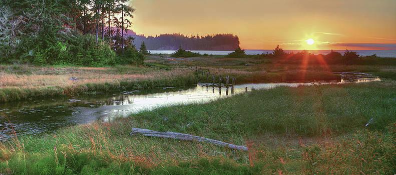 Salt Creek Panoramic Sunset by Rod Mathis