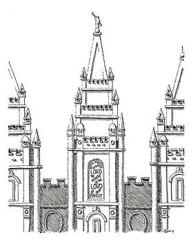 Salt Lake Temple by Aaron Bodtcher