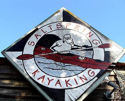 Kayaking Sheep by Cheryl Hoyle