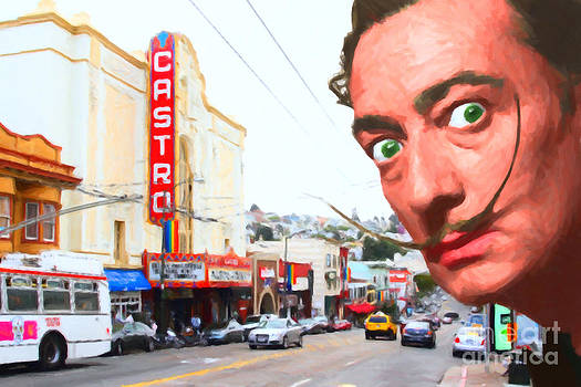 Wingsdomain Art and Photography - Salvador Dali Arrives In San Francisco Castro District 20141213