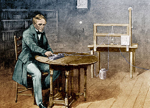 Samuel Morse And Telegraph by Science Source