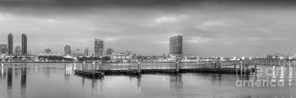 David  Zanzinger - San Diego Skyline 256 Shades of Grey