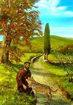 San Francesco e il lupo by Sandro  Mulinacci