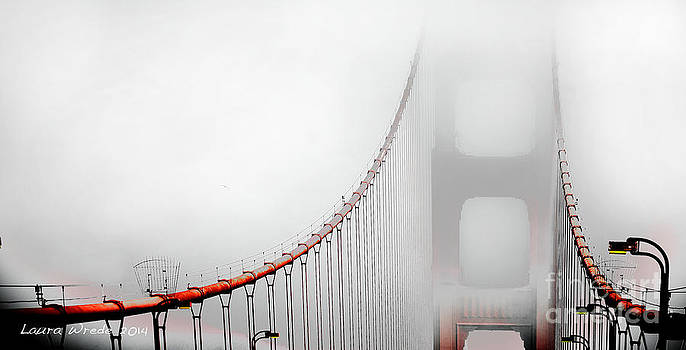 San Francisco Golden Gate Bridge in the Fog by Artist and Photographer Laura Wrede