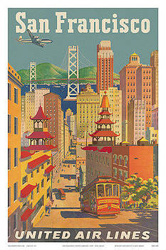 San Francisco United Airlines by Vintage