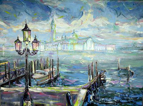 San Giorgio Maggiore in Sky Blue by Zofia  Kijak