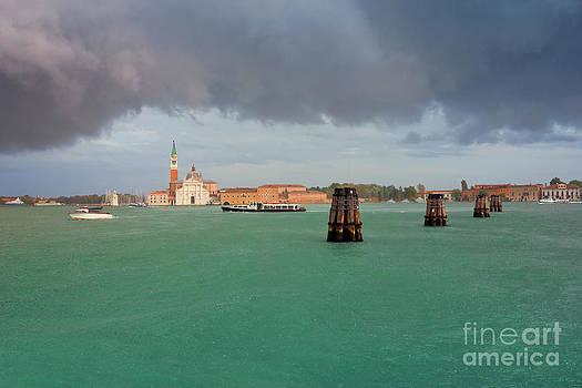 San Giorgio Maggiore in Venice Summer Rain by Kiril Stanchev