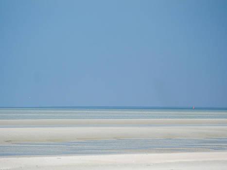 Sand bars and navigation mark by Martin Liebermann