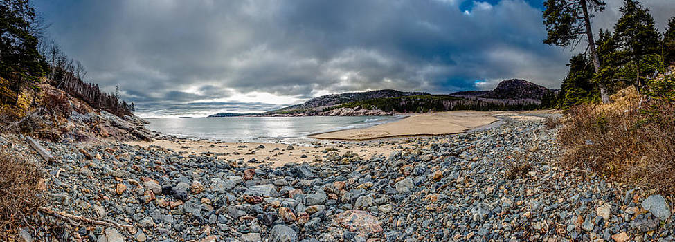 Sand Beach at Acadia by Brent L Ander