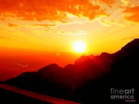 Sandia Sunset by Michelle Stradford
