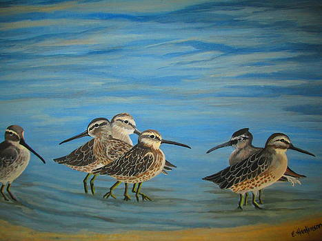 Sandpipers on the Beach by Elaine Haakenson