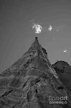 Dave Gordon - Sandstone Peak and Clouds BW