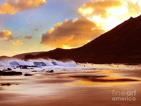 Sandy Beach Sunset by Kristine Merc