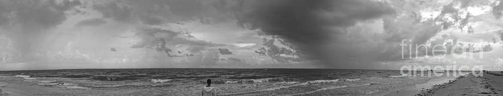 Sanibel Island Panorama in Black and White by Jeff Breiman