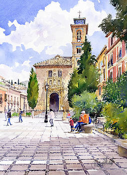 Santa Ana Church Granada by Margaret Merry