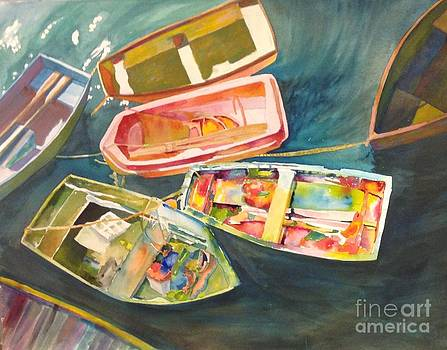 Santa Barbara boats by Wendy Hill