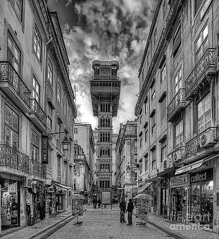 English Landscapes - Santa Justa Elevator BW