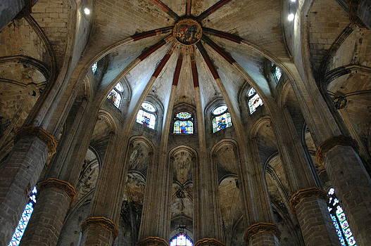 Santa Maria Del Mar Basilica I by Kathy Schumann
