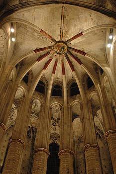 Santa Maria del Mar Basilica IV by Kathy Schumann