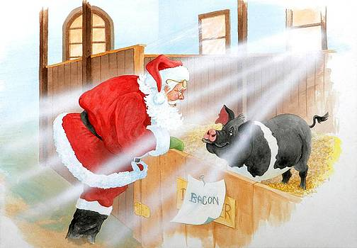 Santa Meets Bacon by Eight Little Pigs Publishing