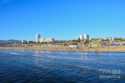 Santa Monica California Coast Line by Timothy OLeary