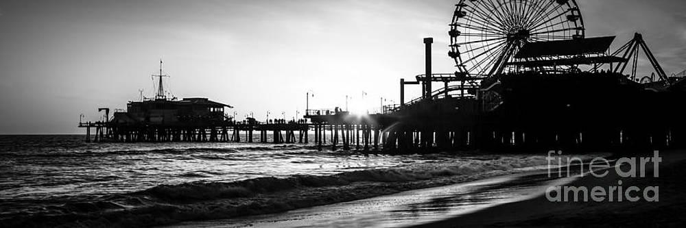 Paul Velgos - Santa Monica Pier Panorama Black and White Photo