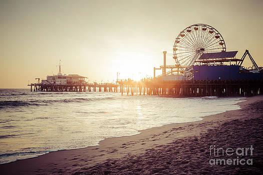 Paul Velgos - Santa Monica Pier Retro Sunset Picture