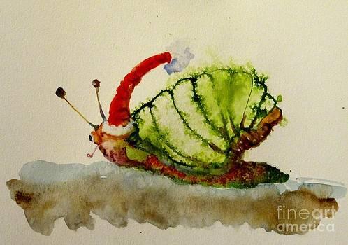 Santa Snail by Delilah  Smith