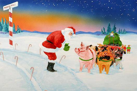 Santa Thanks His Pigs by Eight Little Pigs Publishing