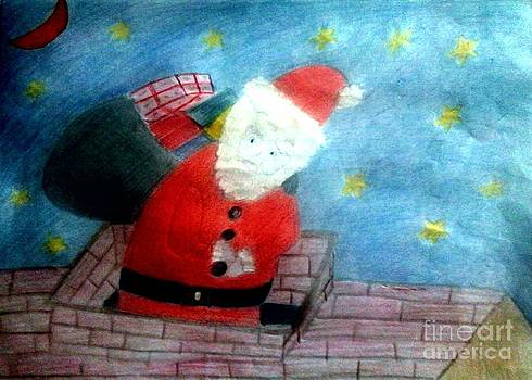 Santa's On His Way by Julie Dunkley