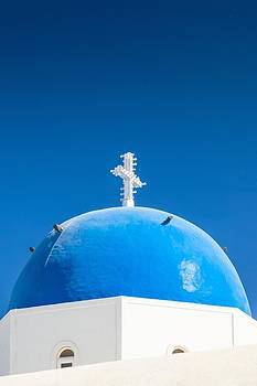 Santorini Blue Dome by Bjoern Kindler