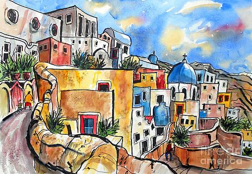 Santorini Greece by Terry Banderas