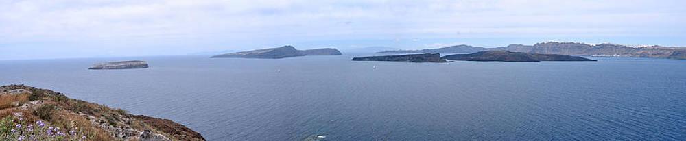Santorini Panoramic by Kathy Schumann