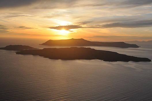 Santorini Sunset II by Kathy Schumann