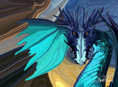 Sapphire Blaze Across the Canyon by Sherin  Hylan