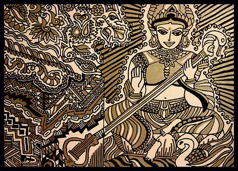Saraswati-Hindu Goddess of Wisdom by Chandrima Dhar