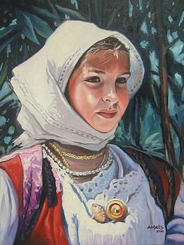Sardinian Girl by Andrei Attila Mezei