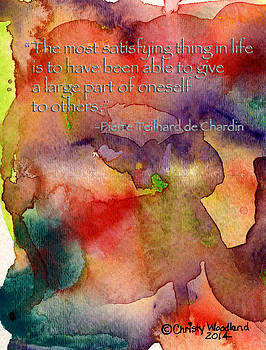 Satisfying thing in life by Christy Woodland
