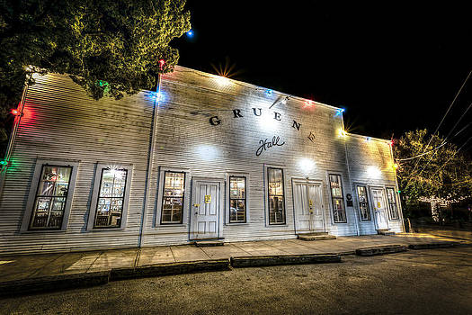 Saturday Night at Gruene Hall by David Morefield