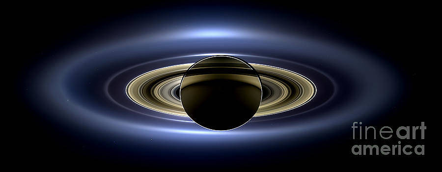 Science Source - Saturn Cassini View High Contrast