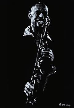 Sax Player by Richard Young