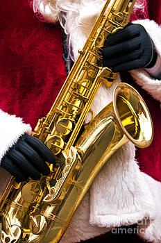 Saxaphone Santa by Julie Palyswiat