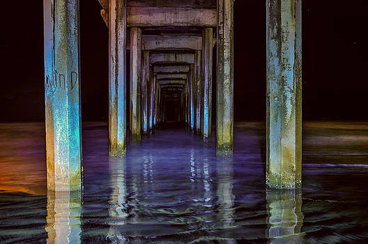 Scripps Pier at Night by Greg Amptman