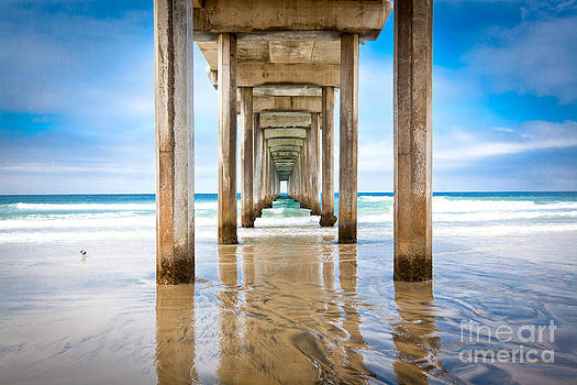 Scripps Pier La Jolla California by Christy Woodrow